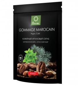 Diar Argana Gommage Marocain / Кофейный скраб с маслом арганы, карите (ши), кокоса Марокканская мята - Атласский кедр, 200г