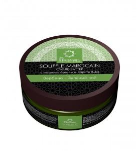 Diar Argana Souffle Marocain / Суфле-баттер (взбитое масло карите с маслом арганы), Вербена-Зеленый чай, 140 мл