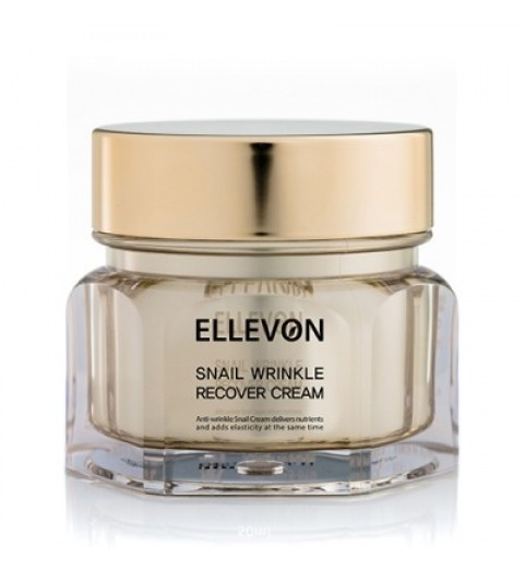 Ellevon (Эллевон) Snail Wrinkle Recover Cream / Анти-возрастной крем с фильтратом слизи улитки, 100 мл