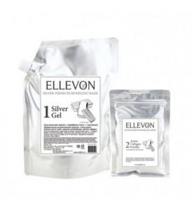 Ellevon (Эллевон) Silver Premium Modeling Mask / Премиум Альгинатная маска с серебром (гель + коллаген), 1000 мл +100 мл