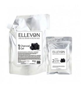 Ellevon (Эллевон) Charcoal Premium Modeling Mask / Премиум Альгинатная маска с углем (гель + коллаген), 1000 мл +100 мл