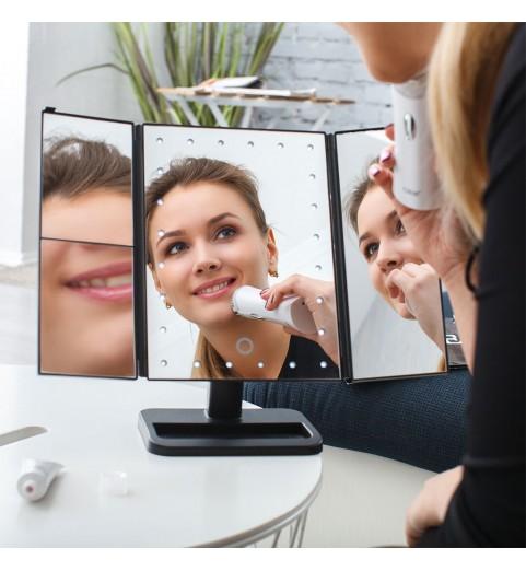 Настольное зеркало uLike для макияжа с подсветкой раскладное