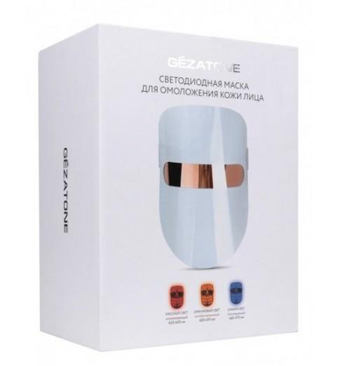 Светодиодная маска для омоложения кожи лица m1020, Gezatone