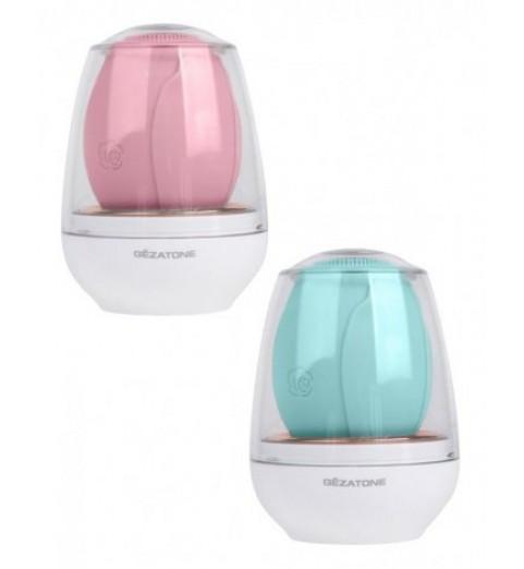 Электрическая щетка для очищения и антивозрастного массажа лица AMG 110, Gezatone (розовая)
