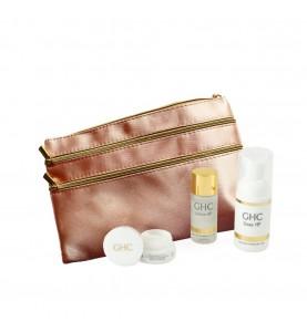 GHC Placental Cosmetic Set Mini / Набор миниатюр GHC HP в косметичке, 30 мл + 20 мл + 8 г