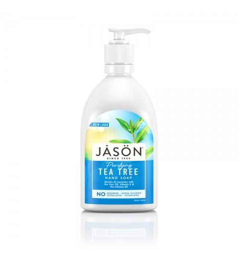 """Jason Tea Tree Soap With Pump / Жидкое мыло для рук и тела """"Чайное Дерево"""", 473 мл"""