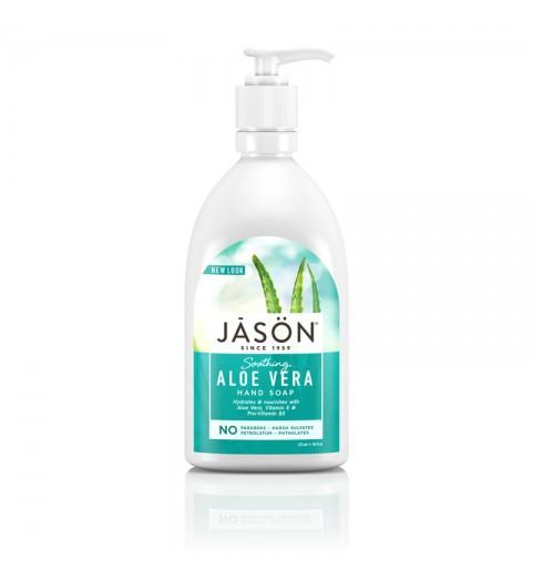 """Jason Aloe Vera Liquid Soap WPump / Жидкое мыло для рук и тела """"Алоэ Вера"""", 473 мл"""
