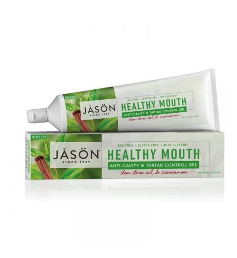 "Jason Healthy Mouth Gel Paste / Гелевая зубная паста ""Чайное дерево"" с фтором, 170 г"