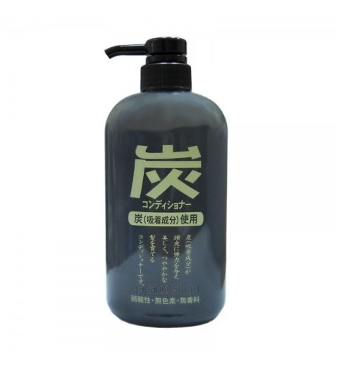 Junlove Charcoal Conditioner / Кондиционер для волос с древесным углём, 600 мл