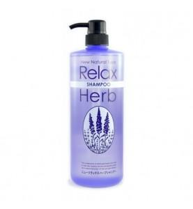 Junlove Relax Herb Shampoo / Растительный шампунь для волос с расслабляющим эффектом (с маслом лаванды), 1000 мл