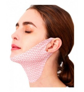 Lamucha V-UP Mask Strong Lifting Chin & Neck / Лифтинг-маска для овала лица и шеи, 3 шт.