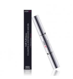 Lashem Double Trouble Mascara Volumizing & Lengthening / Тушь для ресниц 2-в-1 на основе сыворотки для роста с пептидами, 2 х 5 мл