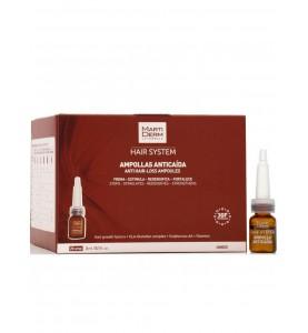 Martiderm Hair System Anti Hair-Loss Ampoules / Ампулы против выпадения волос, 28 шт по 3 мл