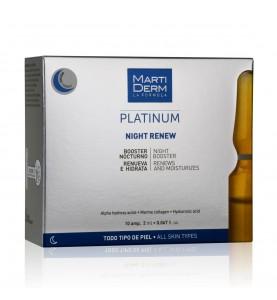 Martiderm Platinum Night Renew / Ампулы Ночное восстановление, 10х2 мл
