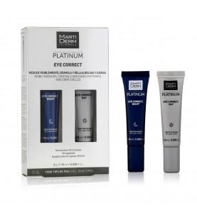 Martiderm Platinum Eye Correct / Кремы день-ночь для кожи контура глаз, 2х10 мл