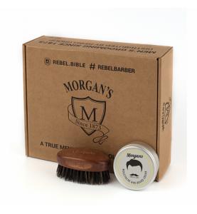 Подарочный набор для бороды и усов Morgans (крем + щетка)
