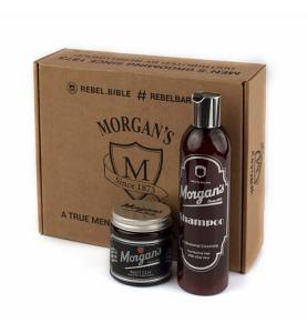 Подарочный набор Morgans (шампунь + глина с кератином для укладки)
