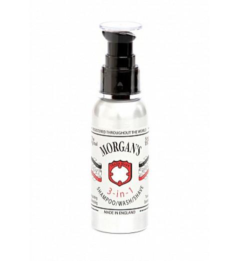 Morgans 3 в 1: шампунь, гель для душа, гель для бритья, 100 мл