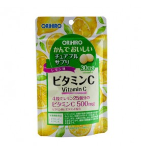 "Orihiro (Орихиро) БАД ""Витамин C со вкусом лимона"", 120 таблеток"