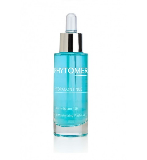 Phytomer (Фитомер) Hydracontinue 12H Moisturizing Flash Gel / Увлажняющий гель 12 часов придающий сияние коже, 30 мл