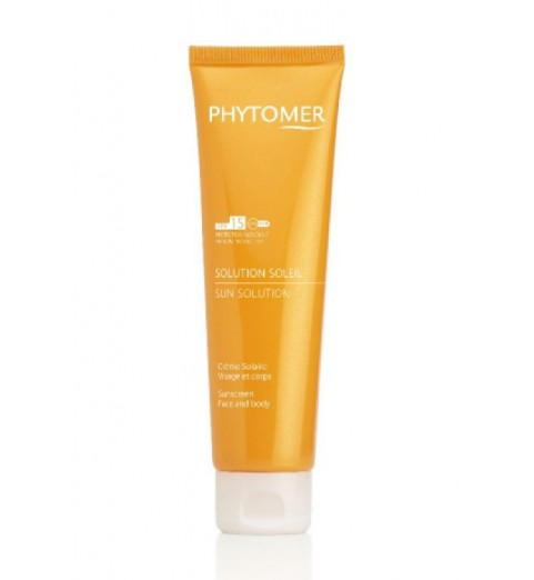 Phytomer (Фитомер) Sun Solution Sunscreen Face And Body Spf15 / Солнцезащитный крем SPF 15 для лица и тела, 125 мл