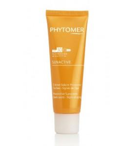 Phytomer (Фитомер) Sunactive Protective Sunscreen Dark Spots - Signs / Солнцезащитный крем SPF 30 для лица от пигментных пятен, 50 мл