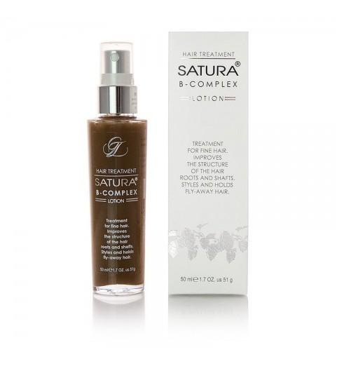 Satura Lotion B-Complex / Лосьон Сатура для ухода за тонкими волосами, с эффектом фиксации прически, 50 мл
