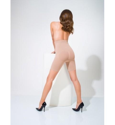 Scala BioFir (Скала БиоФир) Lenght Slimming Panty / Бермуды женские корректирующие с завышенной талией, бежевые