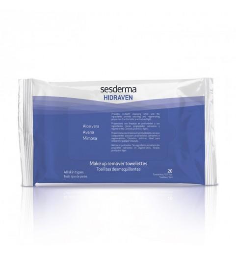 Sesderma Hidraven Make-Up Removal Towelettes / Салфетки для снятия макияжа, 20 шт