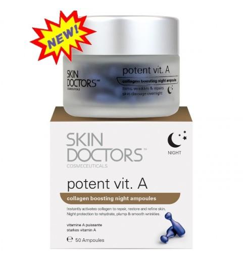Skin Doctors (Скин Докторс) Potent Vit.А / Ночная концентрированная сыворотка с Витамином А в капсулах, 50 капсул по 3 мл