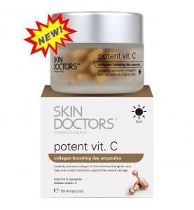 Skin Doctors (Скин Докторс) Potent Vitamin C / Дневная концентрированная сыворотка с Витамином С в капсулах, 50 капсул по 3 мл