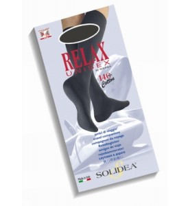 Гольфы с открытым носком Solidea Relax Unisex 140 18/21 mmHg