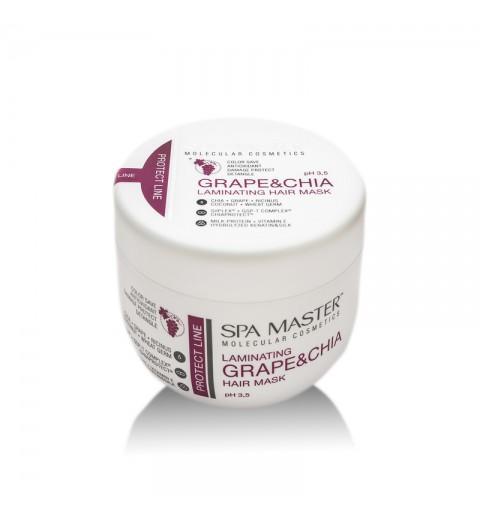 Spa Master Laminating Hair Mask pH 3,0 / Ламинирующая маска для защиты волос с виноградом и чиа, 500 мл
