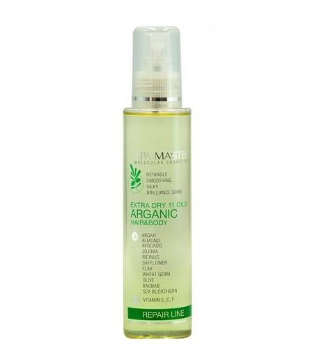 Spa Master Extra Dry 11 Oils Arganic Hair & Body pH 3,5 / Аргановая сыворотка для восстановления волос и кожи «11 масел», 135 мл