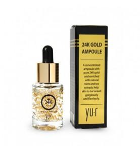 YU.R Premium 24K Gold Ampoule / Премиальная сыворотка с частицами золота, 15 мл